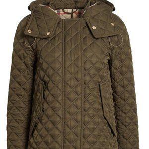 Burberry Leightonbury Nova Check Lined Hooded Coat